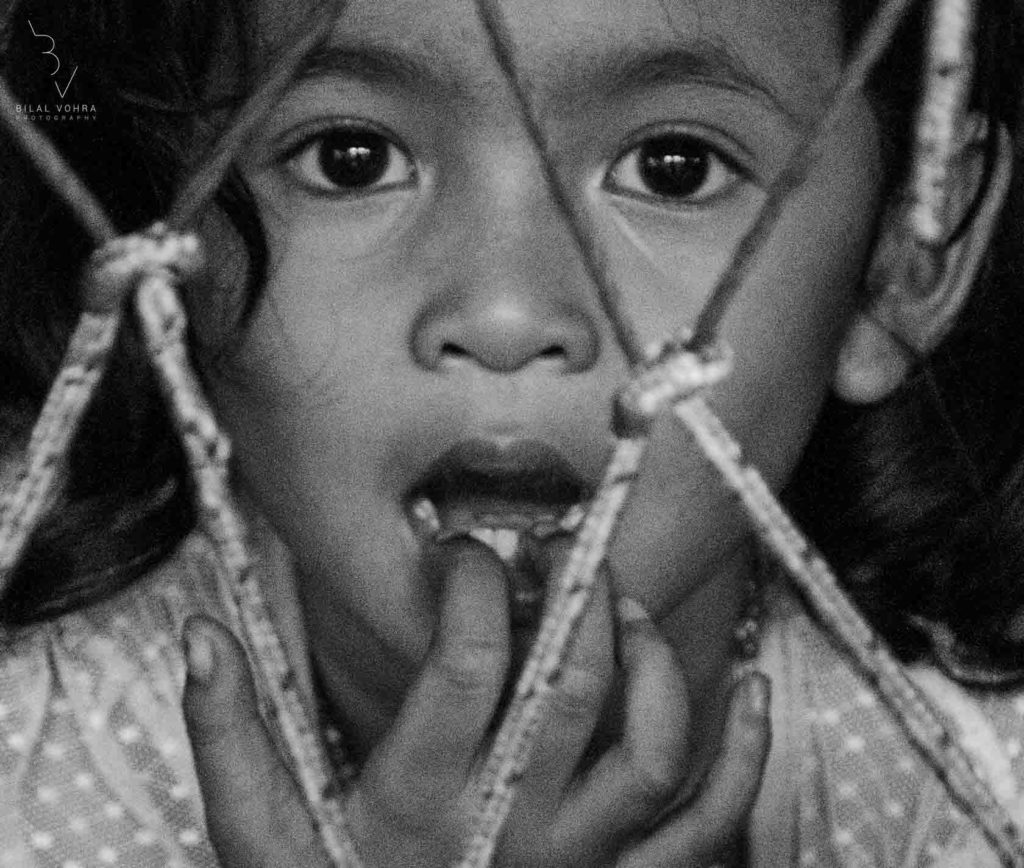 Black and White Portrait of a Young Girl in Sukhamvit Bangkok